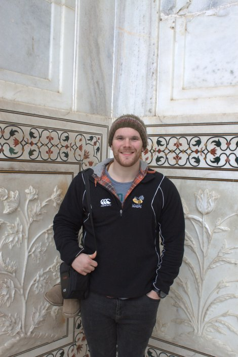 Posin' at the Taj.