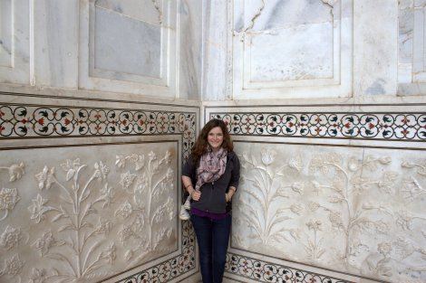 Smilin' at the Taj.