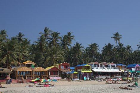 Plenty of beach huts all along the coast.