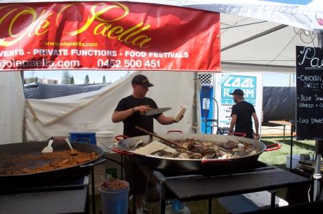 Ole Paella Company had a pretty impressive stall