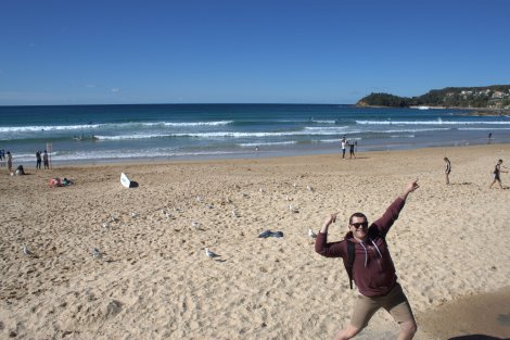 Rockin' Manly Beach.