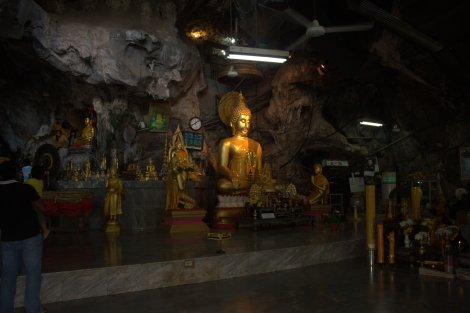 Within the original 'Tiger Cave' which gave the Temple its name.